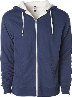Global Heavyweight Sherpa Lined Zip Up Fleece Hoodie Jacket for Men and Women