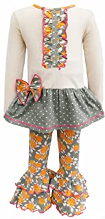 AnnLoren Big Girls' Boutique Holiday Dress and Leggings, Sizes from 12 Months to 13 Years