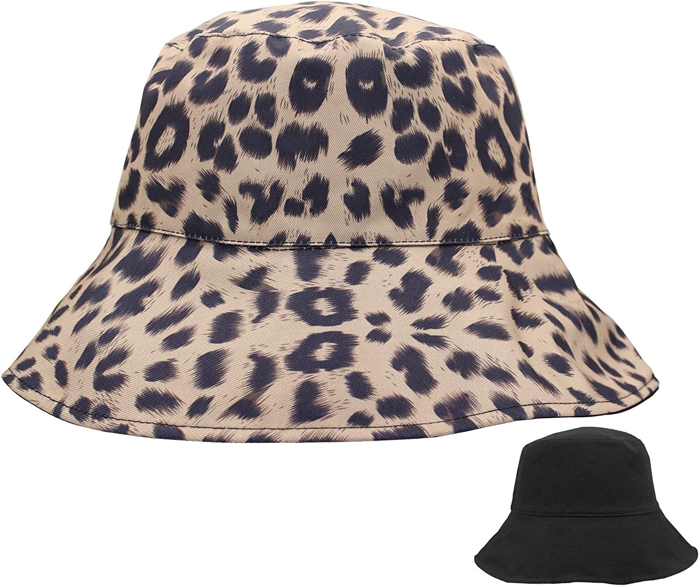 Winhot Women's Bucket Hat,Reversible Summer Travel Sun Hat