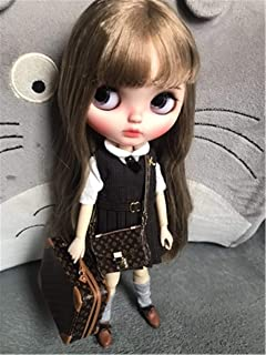 Doll Suitcase Doll Trunk Doll Bag Doll Case for Neo Blythe Nude Doll Azone Pullip Momoko Fashion Royalty Silkstone OB11 Case Outfit