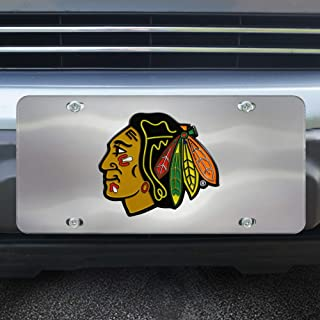 FANMATS NHL Chicago Blackhawks Die Cast License Platedie Cast License Plate, Chrome, 6