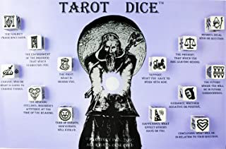 Tarot Dice: Unlock the Answers Inside! 13, Heavy-Weight Dice Etched With 78 Unique Designs & Playing Mat. Great Fortune Reading Alternative to Tarot Cards & Gift for Psychic Enthusiasts.