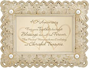 CB Gift Heartfelt Collection from This Day Forward Framed Tabletop Sentiment, 9 x 7-Inches, 40th Anniversary