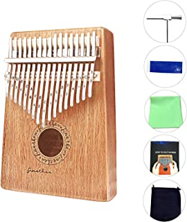 $26 » Anordsem Kalimba 17 Keys Finger Thumb Piano,Mbira,Solid Mahogany Body - with Calibrating Tune Hammer and Storage Bag