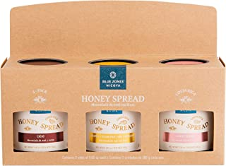 Blue Zones Nicoya Honey Spread, Costa Rican Wild Bee Honey with Tropical Fruits, All Natural, Gluten Free (5.65 oz) (3-Pac...