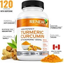 Double Strength Turmeric + Black Pepper Capsules! 2 Month Supply! 1300mg! Non-GMO Turmeric Curcumin w Bioperine. Benefits Anti-inflammatory & Anti-Aging. Feel Less Joint Pain in 2 Weeks!