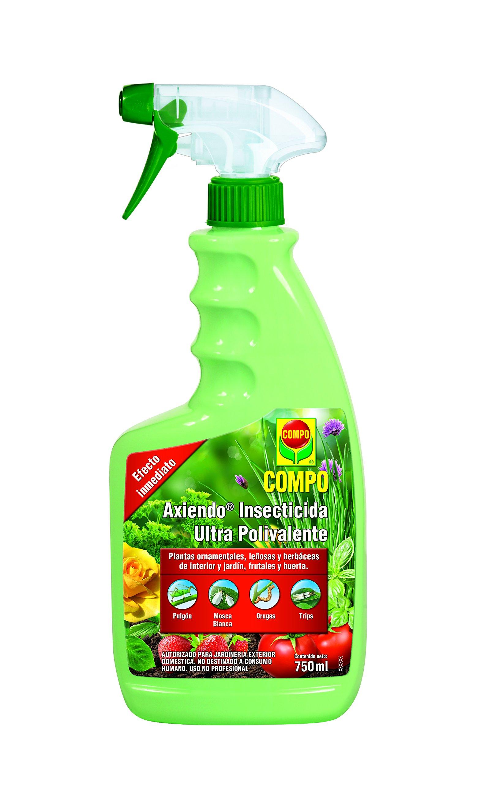 Compo Axiendo insecticida polivalente, para Plantas de Interior y Exterior, Efecto Duradero, Envase pulverizador, 750 ml: Amazon.es: Jardín