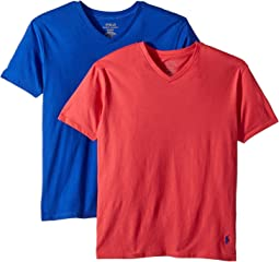 Polo Ralph Lauren Kids - 2-Pack V-Neck Tee (Little Kids/Big Kids)