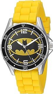 ساعة أنالوج للأولاد من دي سي كومكس - كوارتز مع حزام من السيليكون، 17.5 موديل BAT9280