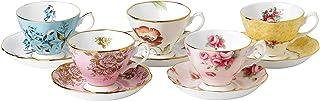 Royal Albert 100 Years 1950-1990 Teacup & Saucer Set, Multicolor , 5 Piece