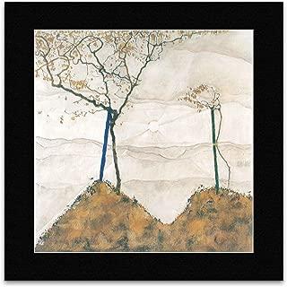 TUSHITA Egon Schiele - Autumn Sun and Trees 1912 Mini Poster - 40x40cm