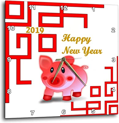 3dRose Lens Art by Florene - Chinese New Year Designs - Image of Reddish Pink Pig