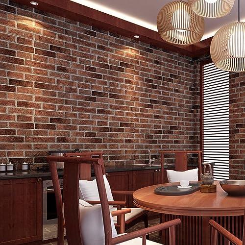 "EasyBuy India Europe Modern Brick Stone Style 3D Wallpaper(100X45Cm/39.37""X17.71"")"