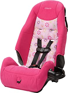 Cosco – Highback 2-in-1 Booster Car Seat – 5-Point Harness or Belt-positioning – Machine Washable Fabric, Pink