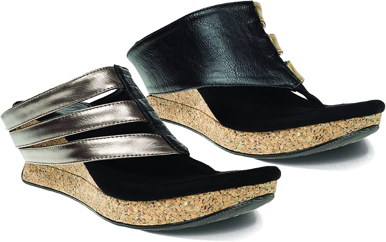 Modzori Sabra Women's Mid Wedge Reversible Twister Sandal