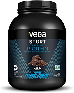 Vega Sport Premium Protein Powder, Mocha, Plant Based Protein Powder for Post Workout - Certified Vegan, Vegetarian, Keto-...