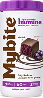 MyBite Vitamins Triple Defense Immune, Dark Berry, 60ct