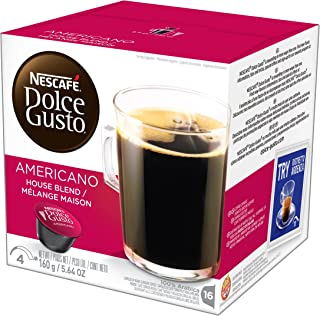 NESCAFÉ Dolce Gusto Coffee Capsules Americano Single Serve Pods, 16 Count, Pack of 3