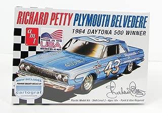 AMT 989 1:25 Richard Petty Plymouth Belvedere 1964 Daytona 500 Winner Model Kit