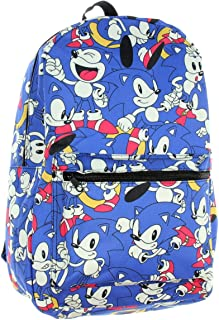Sonic the Hedgehog Allover Character Print Travel Laptop Backpack