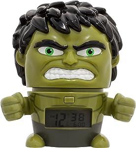Sveglia e luce notturna per bambini BulbBotz Marvel 2021739 Avengers: Infinity War Hulk con effetti sonori