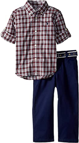 Tartan Shirt & Chino Pants Set (Infant)
