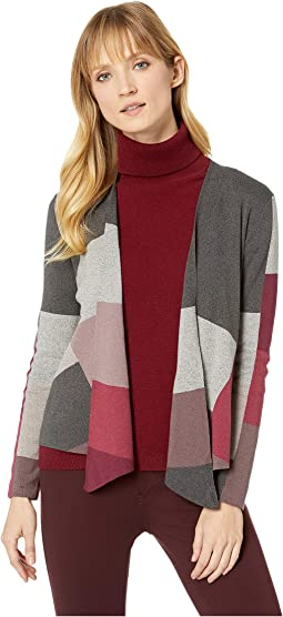 Rich Color Block Cardy