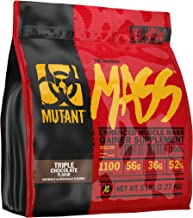 Mutant Mass – Weight Gainer Protein Powder with Whey and Casein Protein Blend for High-Calorie Workout Shakes, Smoothies and Drinks – 5 lbs – Triple Chocolate