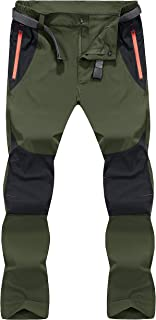 MAGCOMSEN Men's Work Trousers Outdoor Hiking Walking Trousers Lightweight Thin Quick Dry Pants with Zipper Pockets