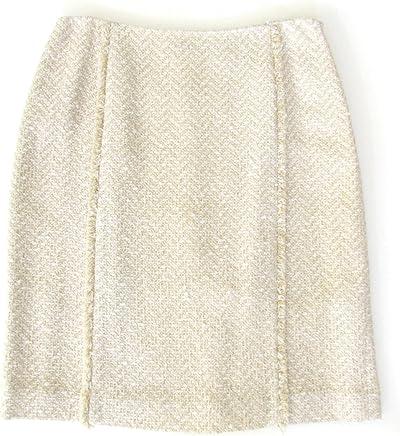 c25b9d2a9f Dana Buchman Collection Off White Boucle Pencil Skirt