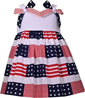 Little Girls July Fourth Bow Dress