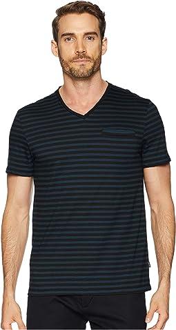 All Over Stripe Pocket T-Shirt