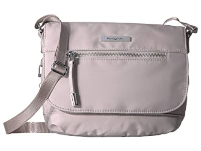 Hedgren Shimmer RFID Crossbody with Flap (Zinc) Cross Body Handbags