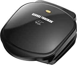 George Foreman 2 Serving Classic Plate Grill, Black