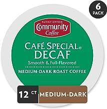 Community Coffee Café Special Decaf Medium Dark Roast Single Serve, 72 Ct Box, Compatible with Keurig 2.0 K Cup Brewers, Medium Full Body Smooth Bright Taste, 100% Arabica Coffee Beans