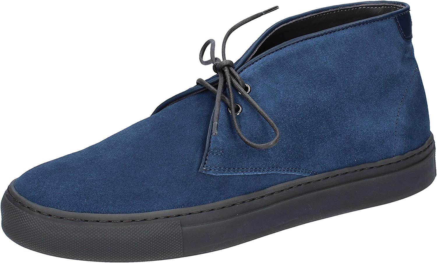 ALBERTO GUARDIANI Chelsea-Boots Mens Suede bluee