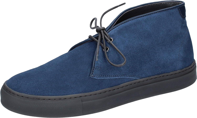 Alberto Guardiani Desert Stiefel Herren Wildleder blau