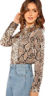 Women's Elegant Tied Neck Knot Front Long Sleeve Blouse Top