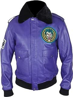 F&H Men's Henchman Joker Goon Purple Bomber Jacket