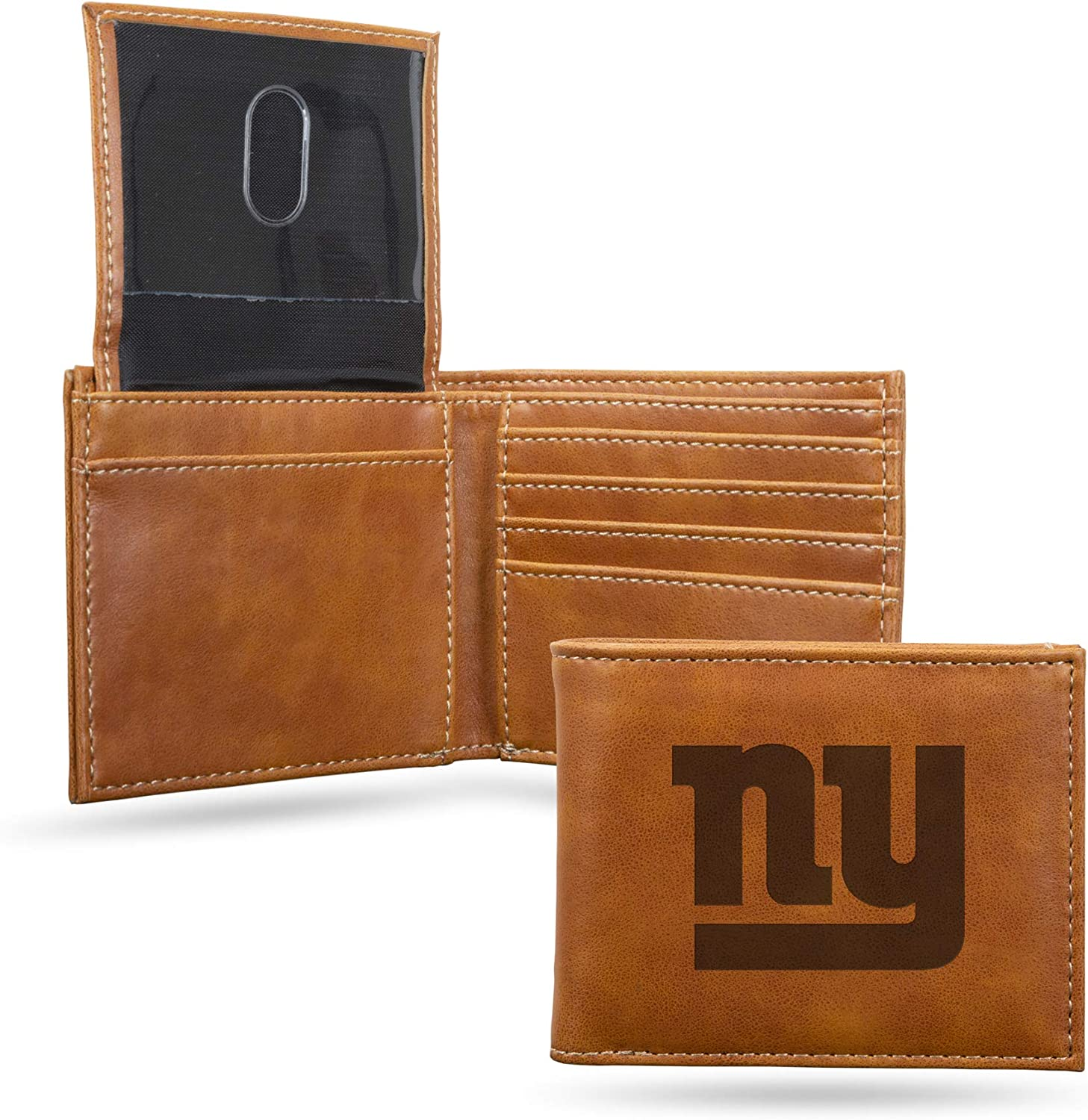 Japan's largest shipfree assortment NFL Rico Industries Laser Engraved Wallet Billfold New Gia York
