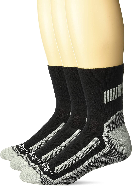 Carhartt Men's Force Performance Work Socks 3 Pair Pack