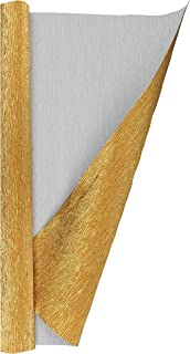 Top Quality Italian Paper Craft FloristryWarehouse Metallic Gold Black 8017 Crepe Paper Roll 20 Inches Wide x 8ft Long