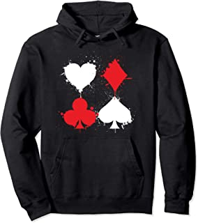 Playing Cards Poker Heart Spade Diamond Club Casino Pullover Hoodie