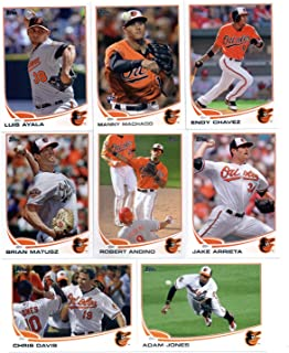 2013 Topps Baltimore Orioles Team Set (Series 1 - 14 cards - In Ultra Pro
