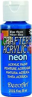 Deco Art DCA133 - Pintura para Tejidos y Telas, Color Azul neón