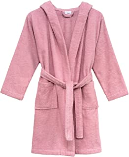 Girls Beach Cover-up, Kids Hooded Cotton Terry Pool Cover-up