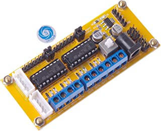 SMAKN® Dual-H Bridge L293D 4 DC motor driver module for Arduino robot 4WD smart car