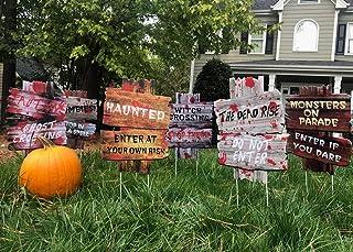 YardSigns for HalloweenBeware Signs Yard Stakes Warning Yard Sign Stakes for Halloween Decorations Outdoor Lawn Decorati...