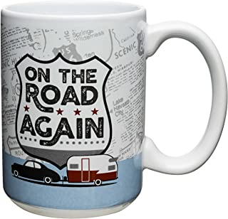 Zak! Design Adventurer Large Ceramic Mug, On The Road Again