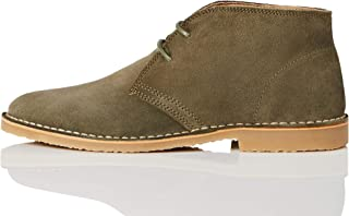 Marchio Amazon - find. Desert Boot Polacchine, Verde (Green Jeans (Suede), 45 EU